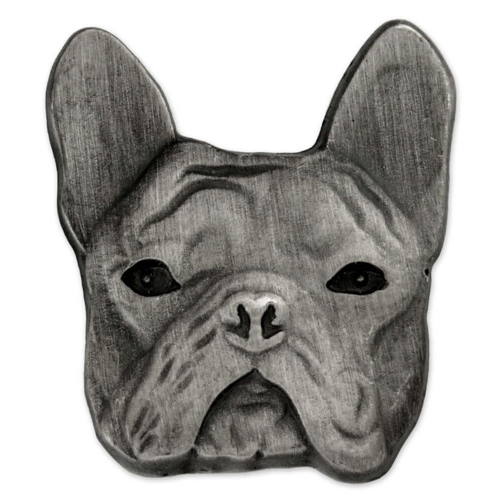 Pinmart S Silver 3d French Bulldog Breed Dog Lover Lapel Pin Ebay
