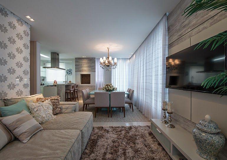 Pequeno apartamento decora o cl ssica e leve fica em sc for Decoracion casa clasica moderna