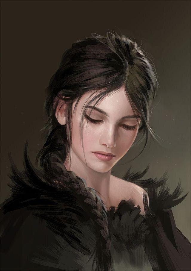 leana queen of durath the black queen  porträt ideen