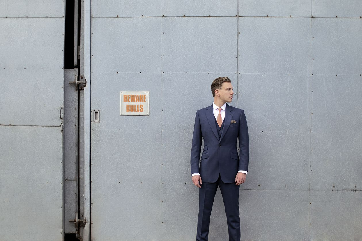 Three piece navy blue bespoke suit from Cad The Dandy, Savile Row ...