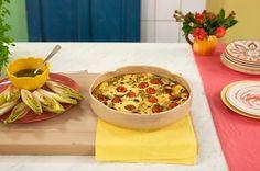 Clafoutis de abobrinha com tomate e queijo minas   Panelinha - Receitas que funcionam