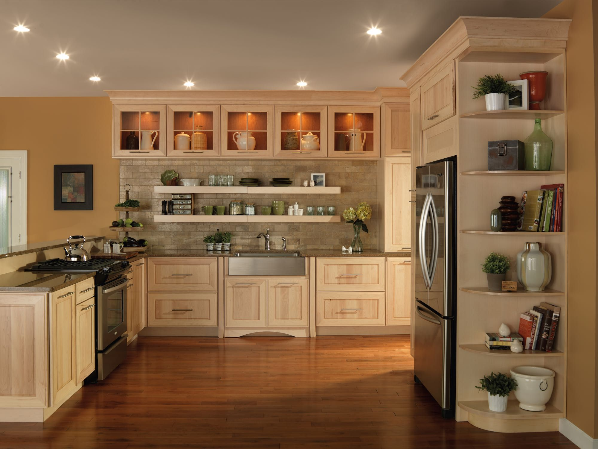 Image Of Maple Kitchen Cabinets Maple Is The Very Best Option For Open Spaces As It Supplie Maple Kitchen Cabinets Merillat Kitchen Cabinets Kitchen Cabinets
