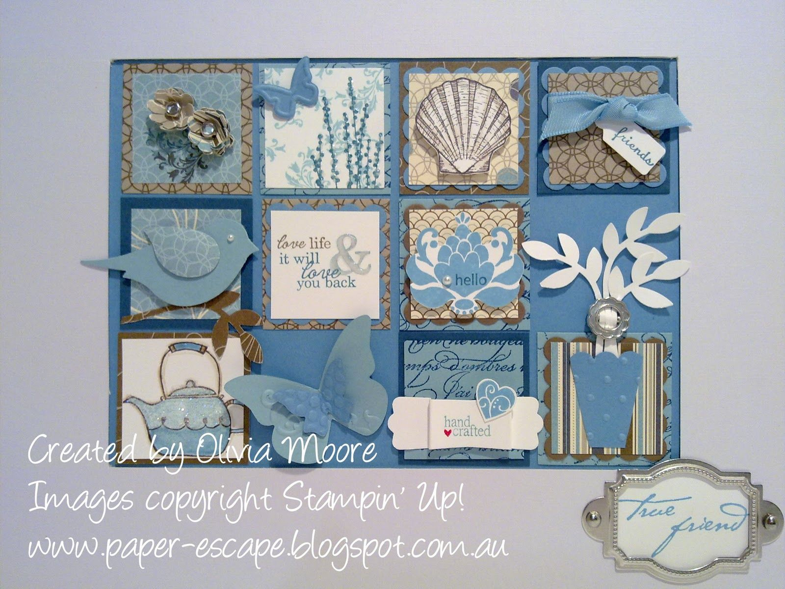 Collage Frames Australia Stampin Up Shadow Box Squares Of Goodness Sampler