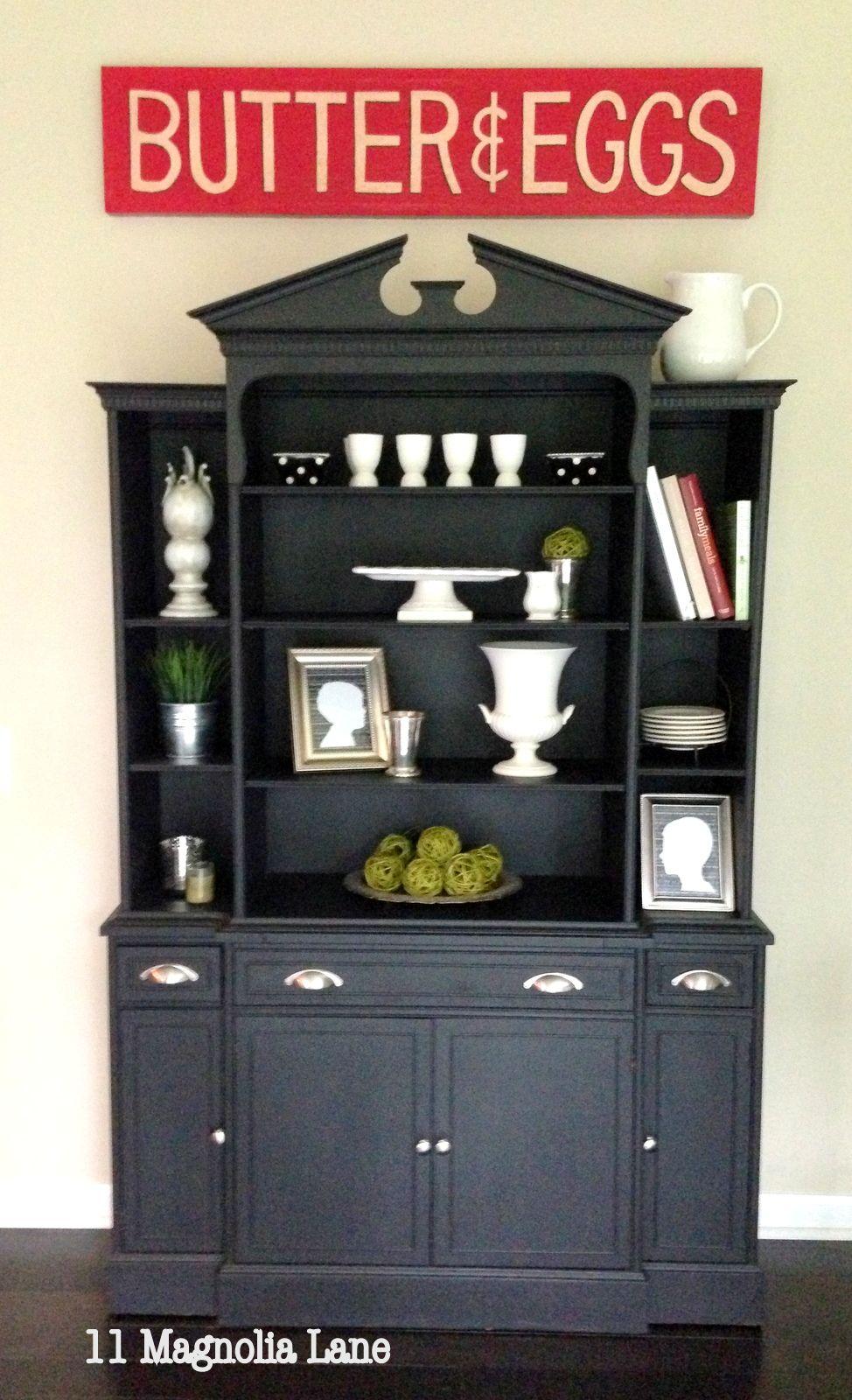 Amazing Flea Market Finds 11 Magnolia Lane Milk Paint Kitchen Cabinets Painting Kitchen Cabinets Black Painted Furniture
