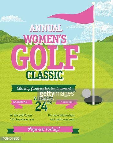 Pink golf tournament invitation design template on golf green vector pink golf tournament invitation design template on golf green vector id468407896 369465 stopboris Choice Image