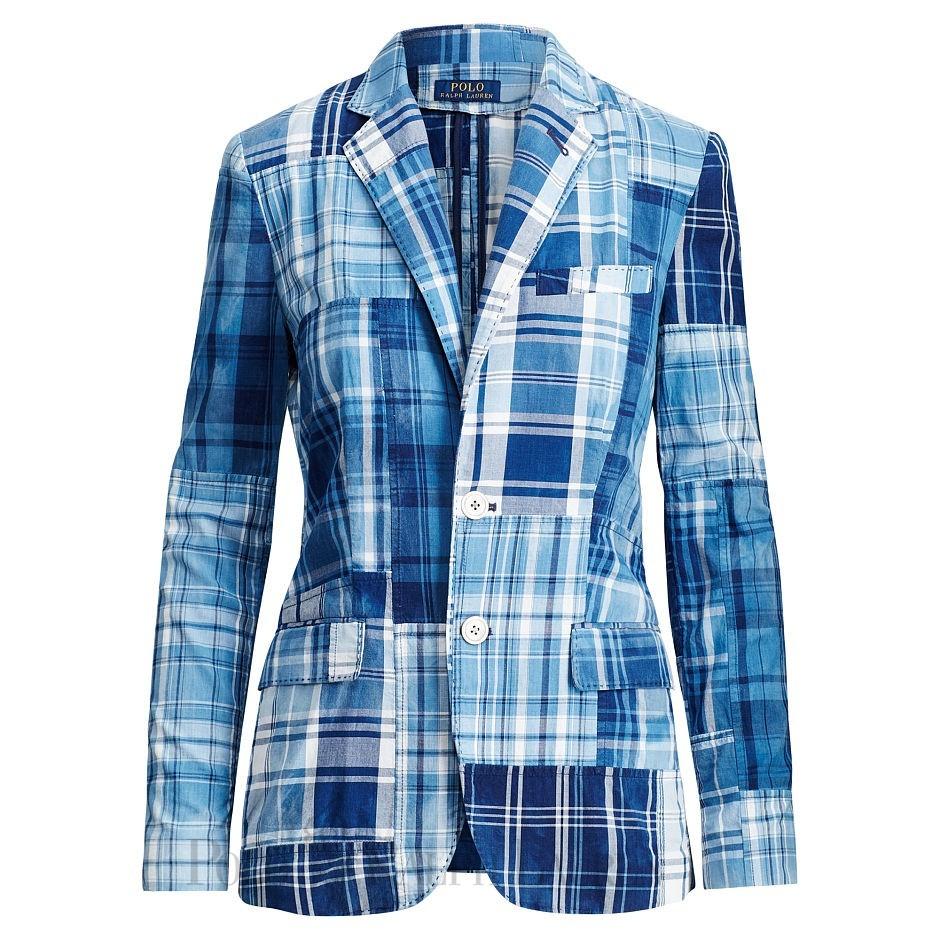 Reliable Patchwork Cotton Madras Blazer Rl01998