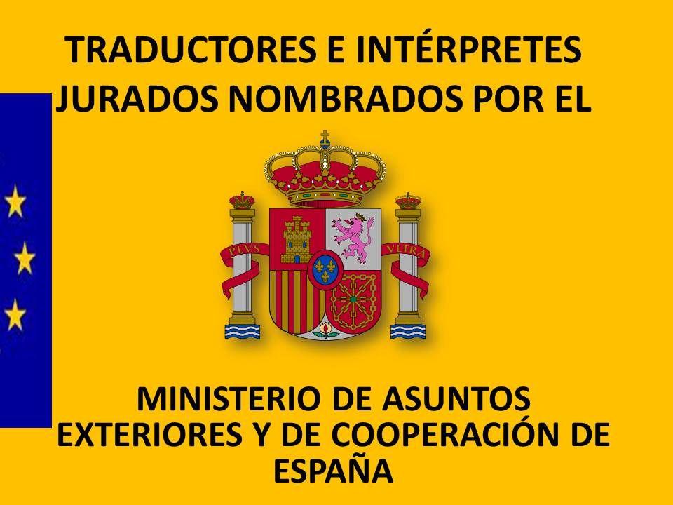 traductores jurados nombrados por el MAEC | Traductor, Nombres