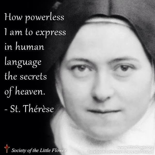 St Therese Of Lisieux With Images Saint Quotes Catholic
