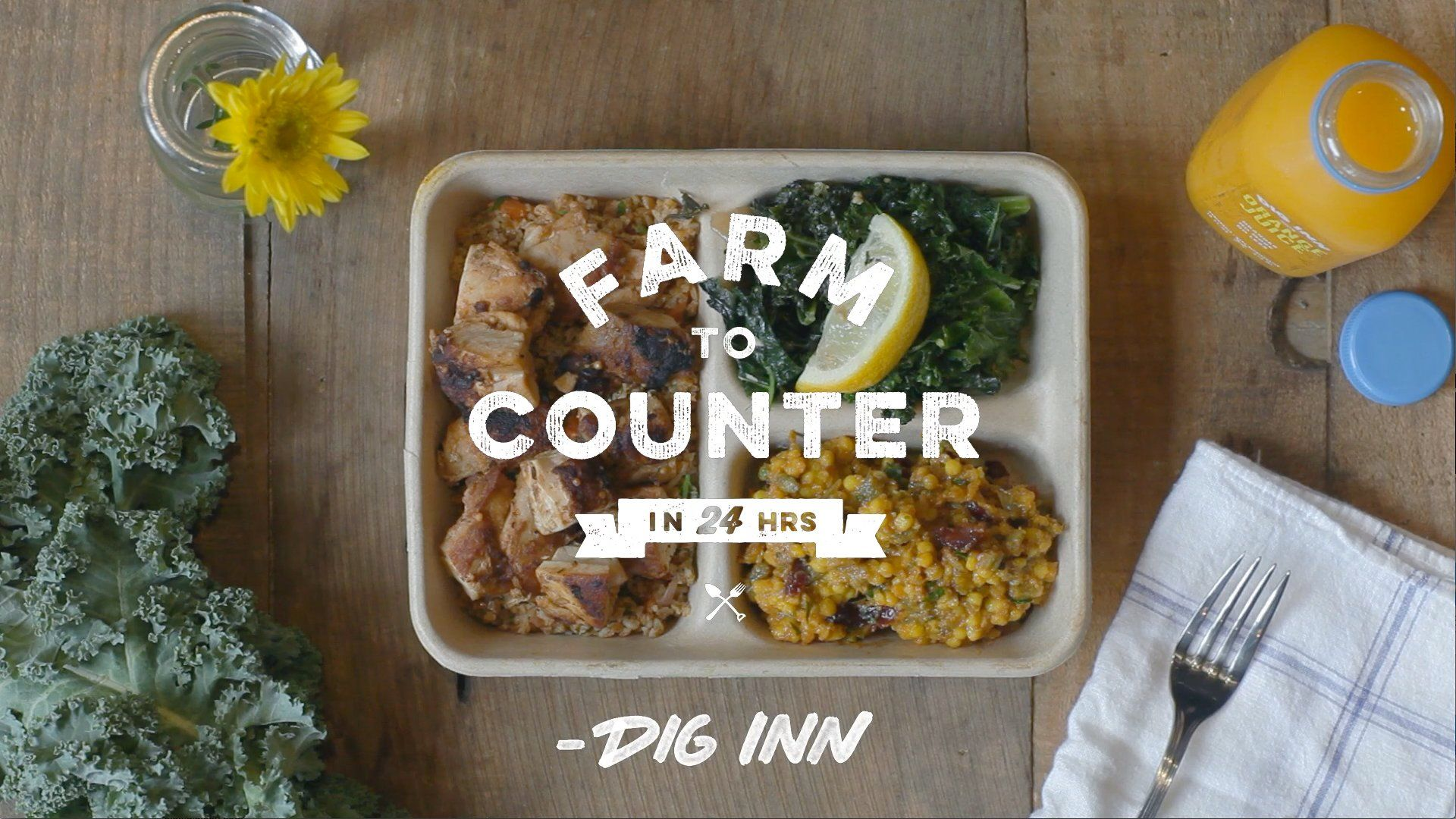 Farm to counter in 24 hours eat farm food