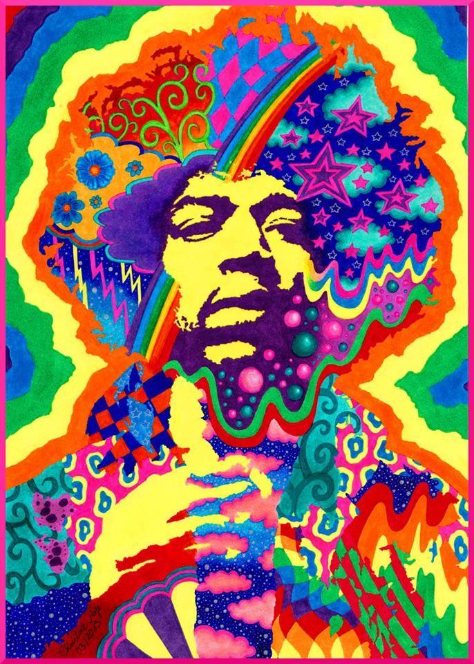 Jimi Hendrix Psychedelic Poster Pop Art Jimi Hendrix Art