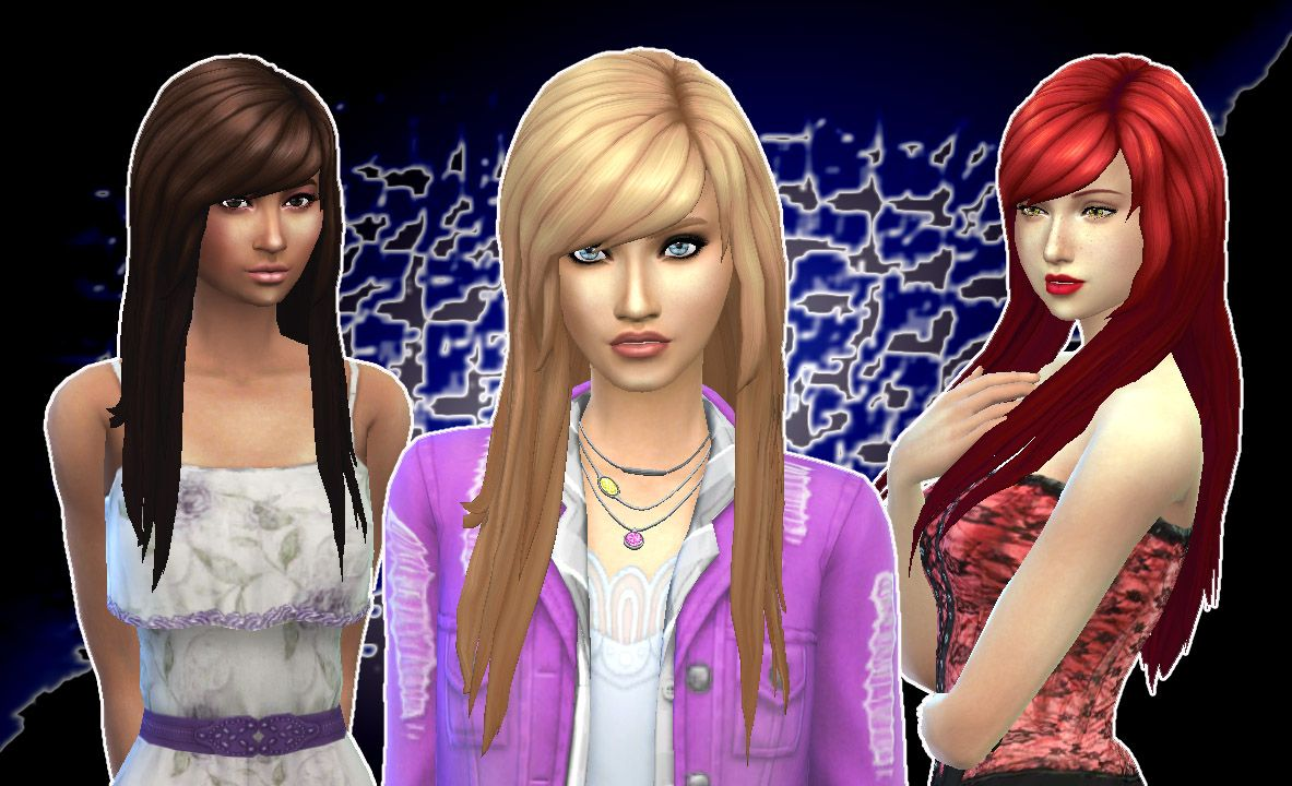 My Stuff Cute Hairstyle Sims 4 coupe femme Sims 4