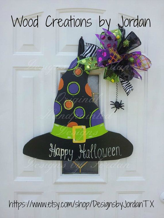 AdOrAbLe WiTcH hAt DoOr HaNgEr by DesignsbyJordanTX on Etsy, $55.00