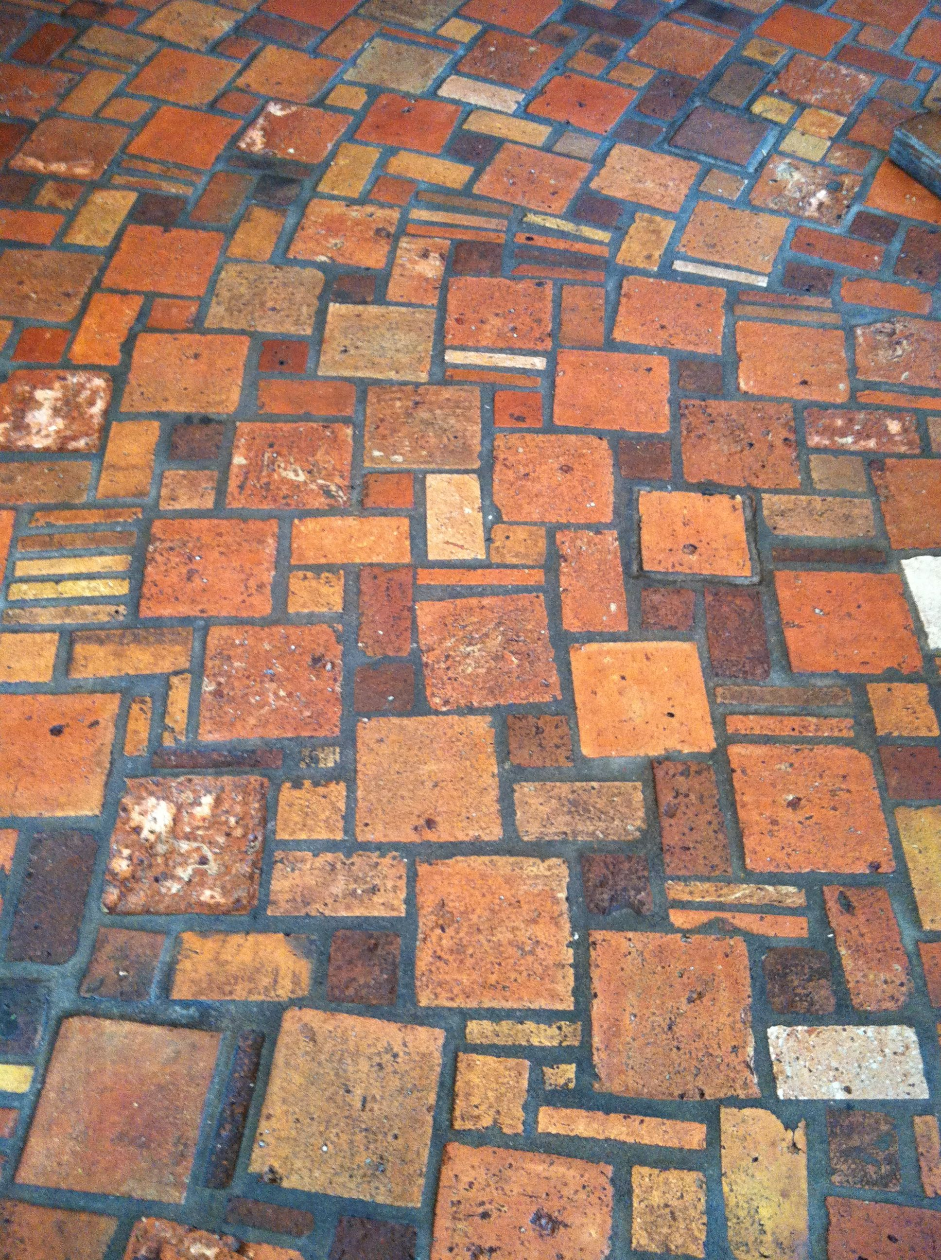 brickwork on floor