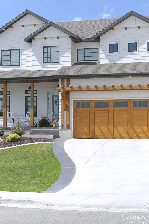 Modern House Exterior Design Front Door Ideas Wood Facade Wooden Garage Door: House Exterior, House Designs Exterior, Garage Door Design