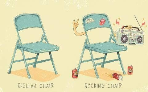 Pin By Sarah Zietz On Puns Rocking Chair Funny Gif Folding Chair