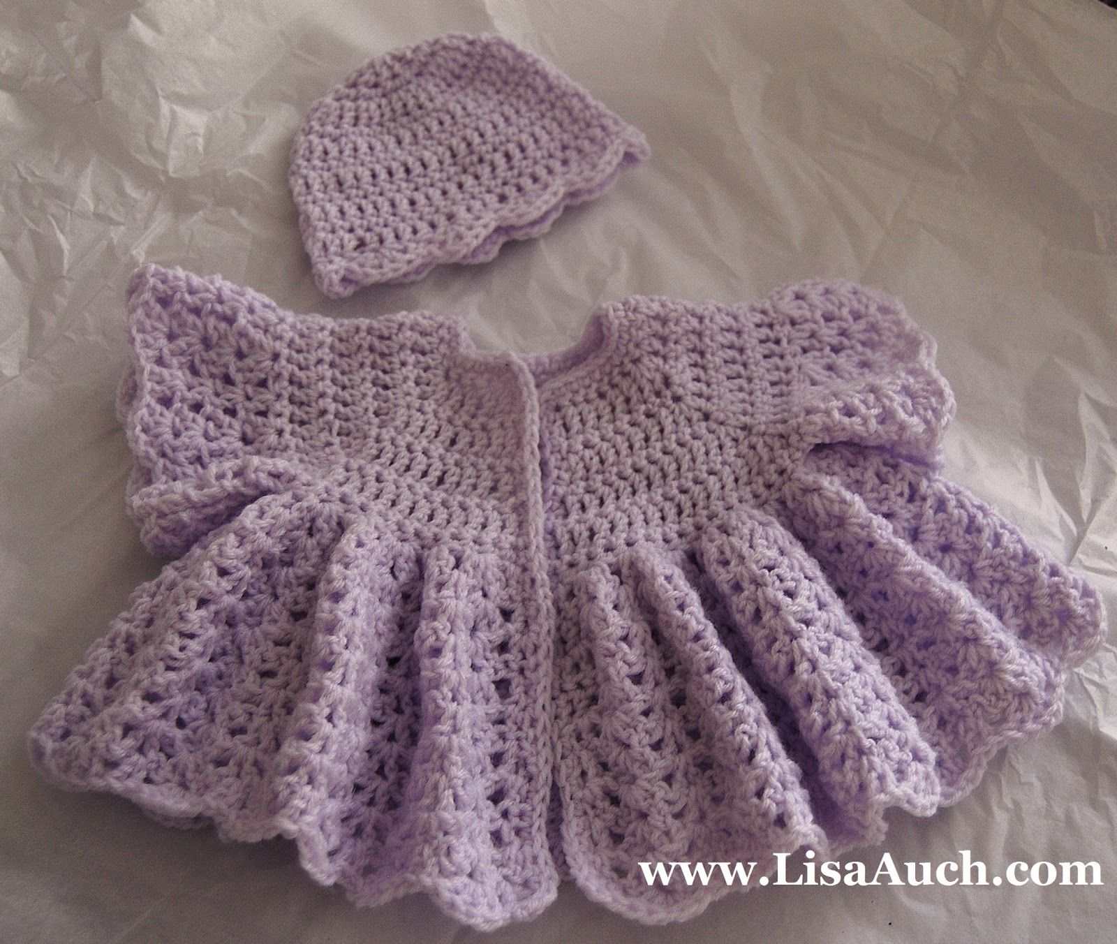 Crochet Baby Hat And Sweater Pattern : Free Crochet Patterns-crochet baby layette patterns-baby ...