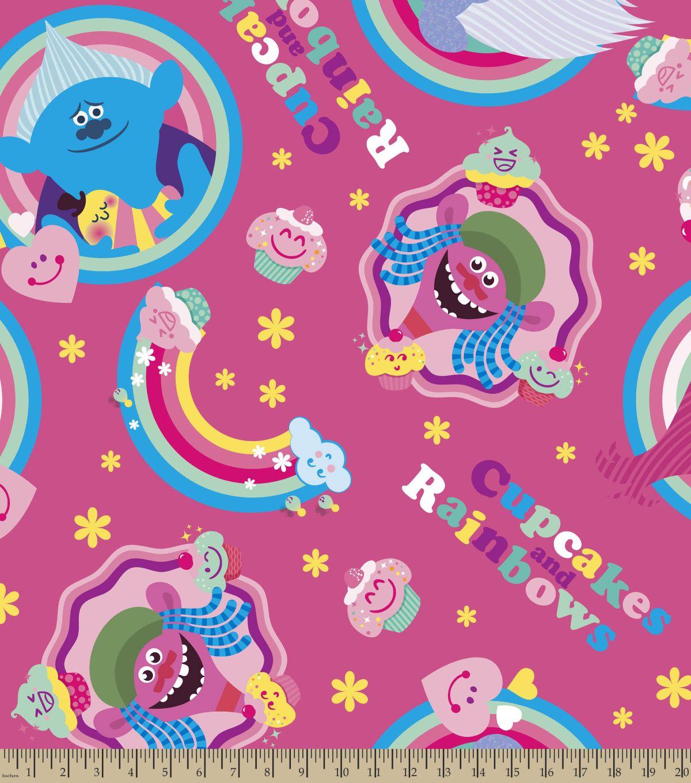 Dreamworks trolls fleece fabric