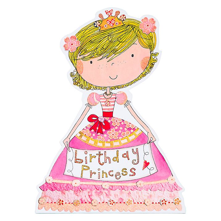 Buy Rachel Ellen Birthday Princess Card John Lewis birthday