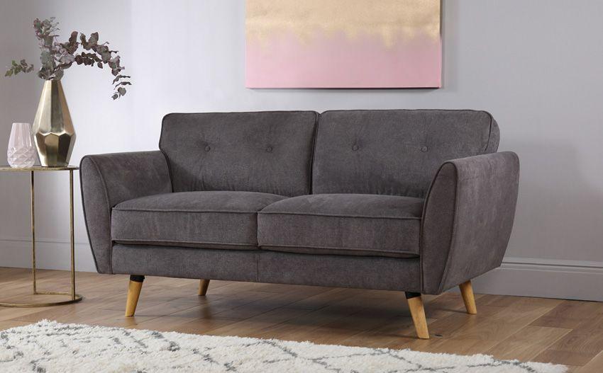 Peachy Harlow Slate Grey Fabric Sofa Square Black Fabric Sofa Squirreltailoven Fun Painted Chair Ideas Images Squirreltailovenorg