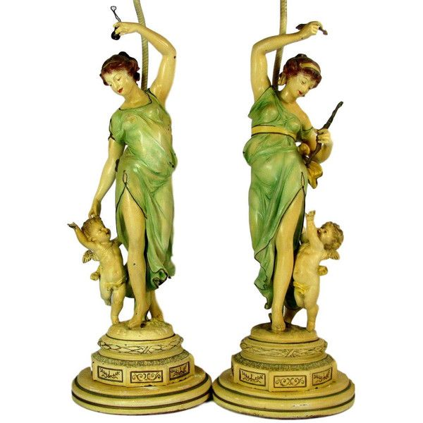 Dancing Cherubs And Woman Playing Music In Forest Decorative Arts Special Section Rare Bronze Plaque