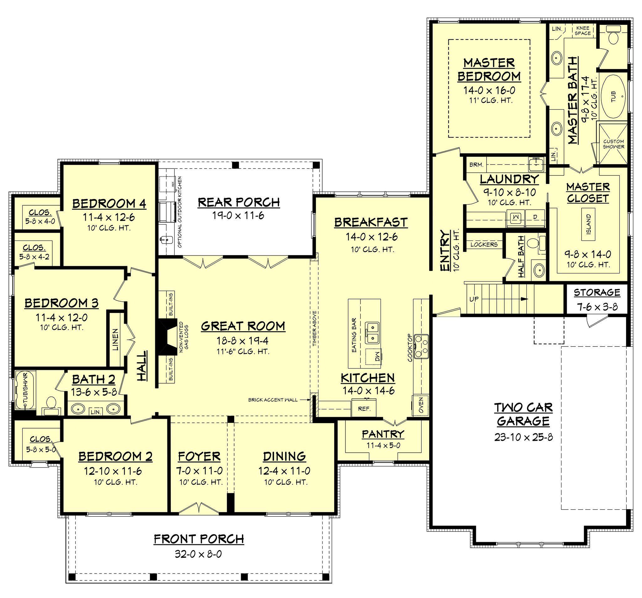 Erin House Plan | Farmhouse house plans, Farmhouse plans and Bedroom ...