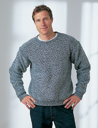 b855978207 Ravelry  Men s Drop Shoulder Sweater pattern by Bernat Design Studio