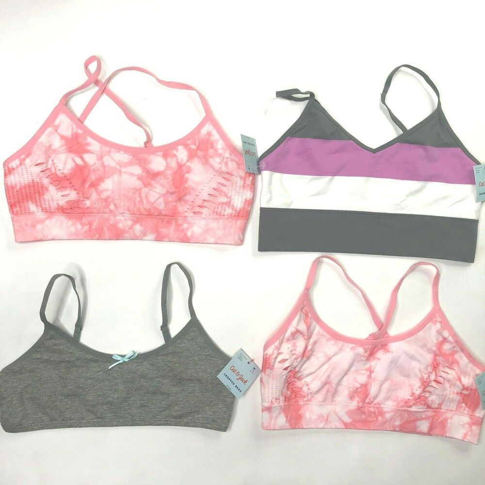 Details about NWT Girls Bras Lot of 4 Size MED 32A 7/8