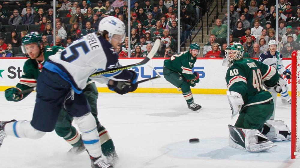 Jan 04 2020 Jets Score Twice On The Power Play But Fall To Wild In Overtime Scheifele Wheeler Score Pionk Hits In 2020 Hockey News World Junior Hockey Nhl Hockey