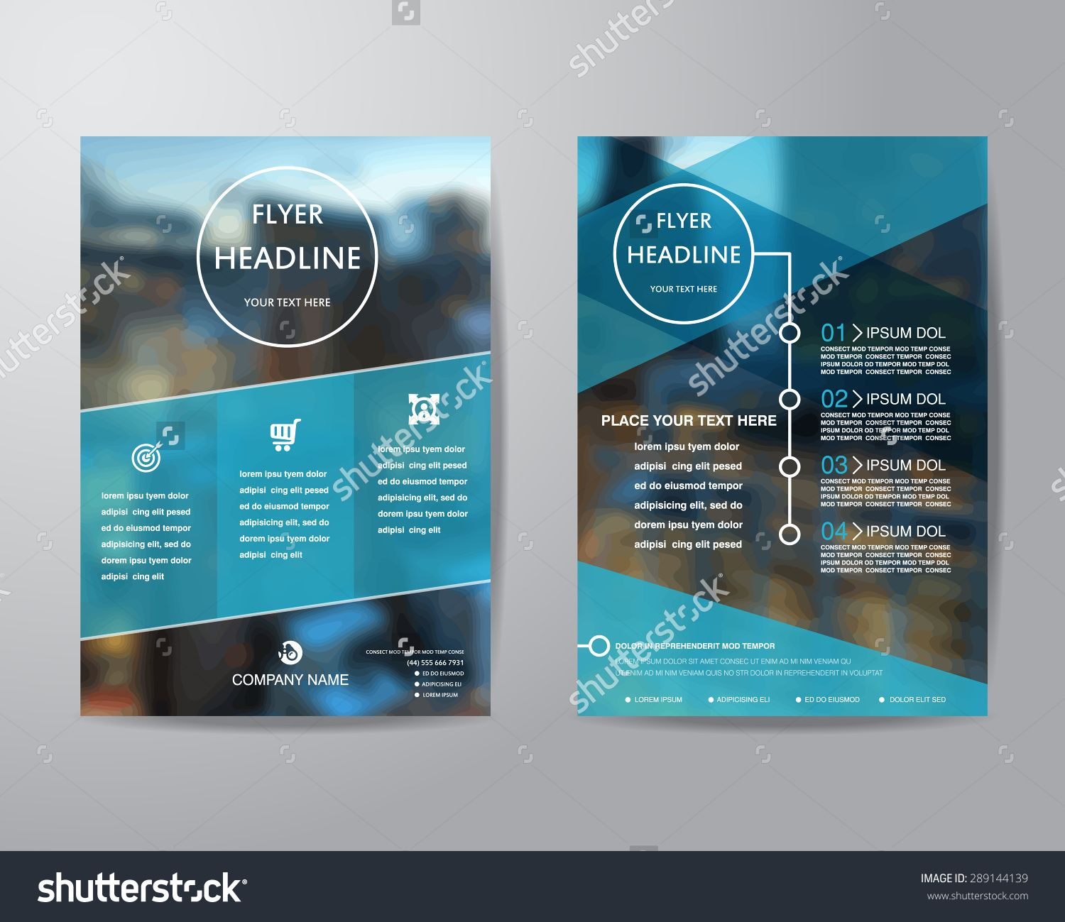 Business Brochure Flyer Design Layout Template In A4 Size, With Blur ...
