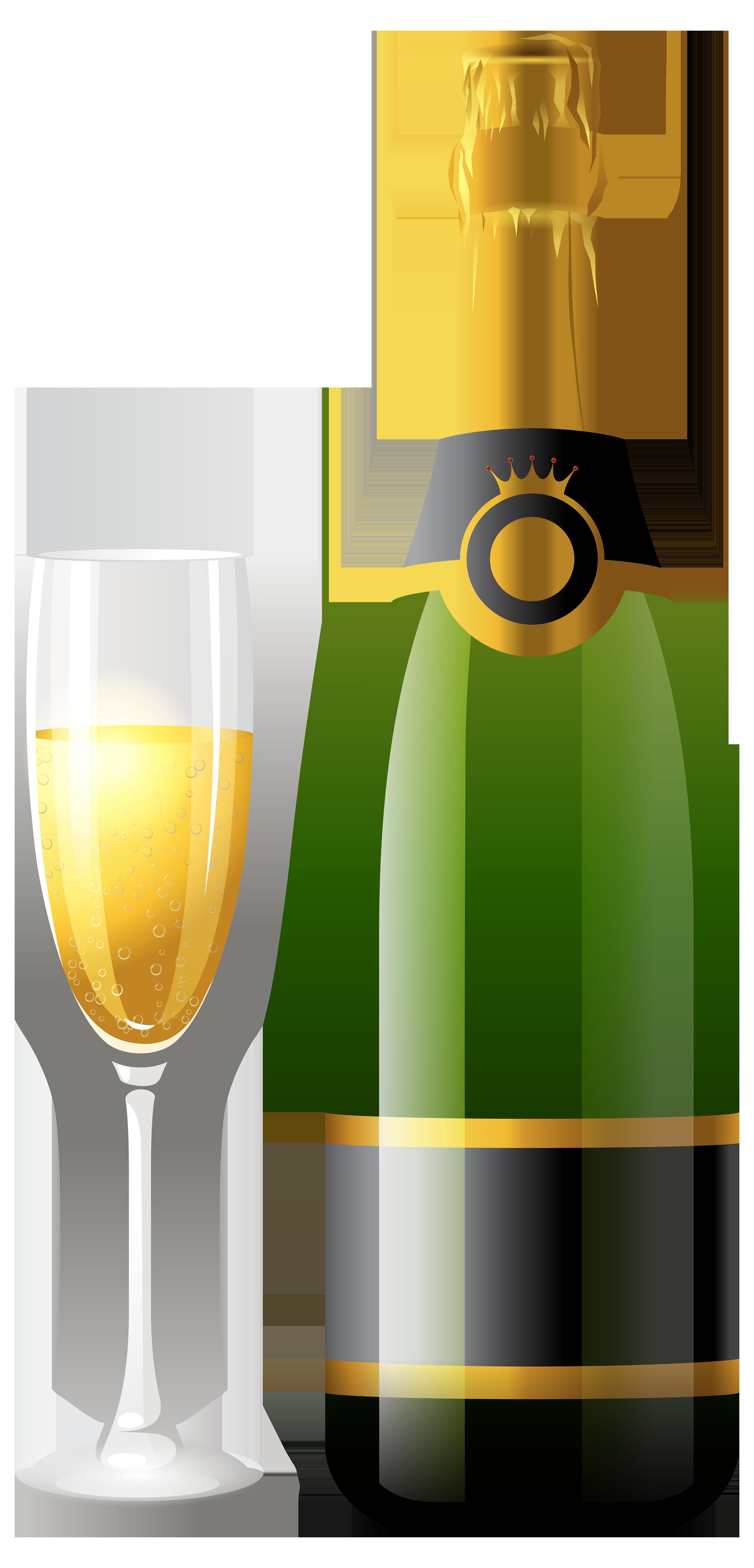 champagne clipart bottle glasses Szukaj w Google