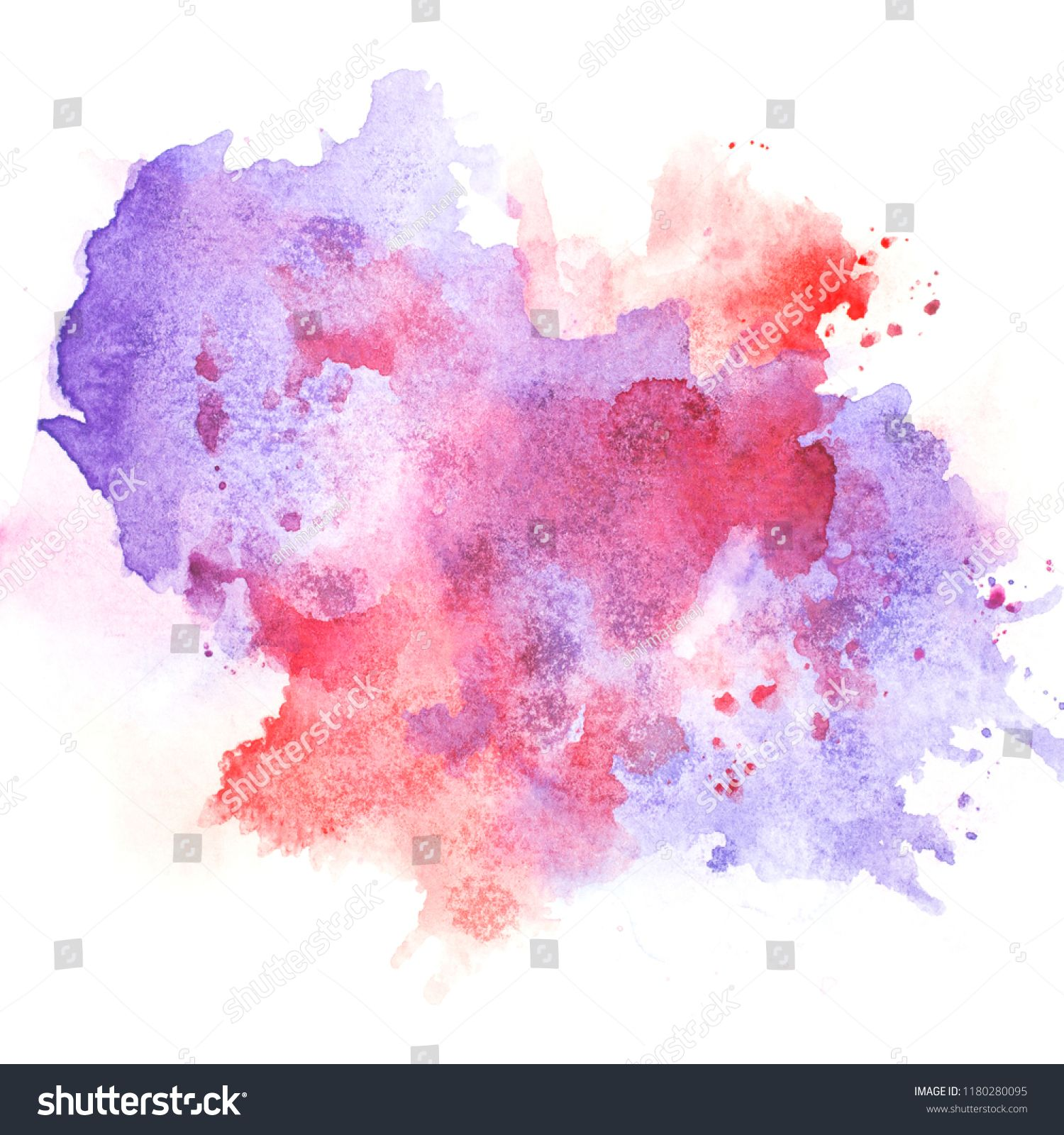 Brush Purple Watercolor Color Shades Space Image Watercolor Purple