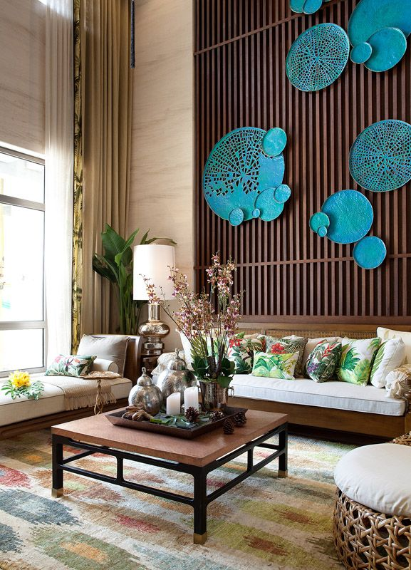 Earthy Living Room Decor: Earthy Living Room With A Splash Of Colour