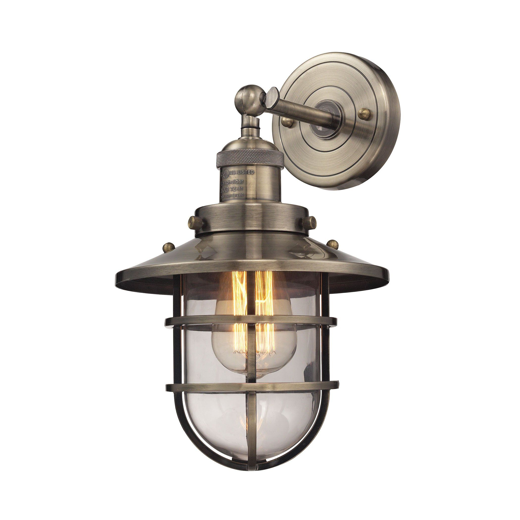 sea satin sinker sconce nickel brushed vanities lighting nautical lights kitch ideas spark bathroom inside luxury stunning light gorgeous bar trend with astounding for vintage theme outdoor style sconces vanity simple