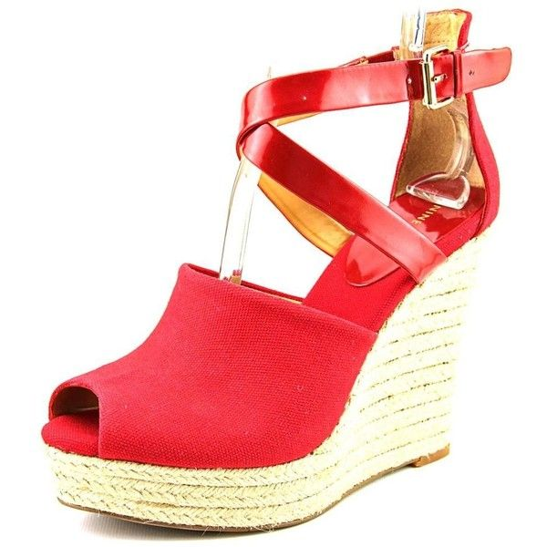 Nine West Women's Cailean Platform Sandal ($33) ❤ liked on Polyvore featuring shoes, sandals, wedge heel platform shoes, wedge heel shoes, wedges shoes, platform shoes and platform sandals