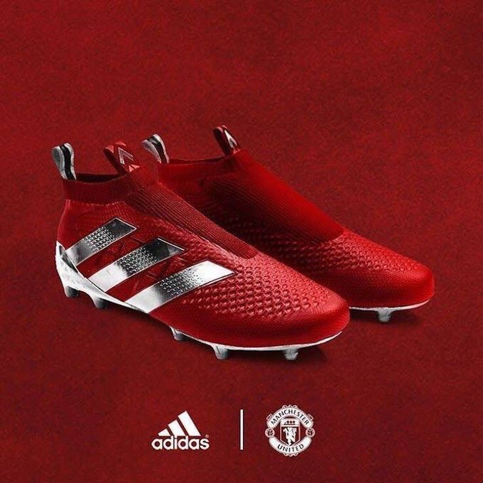 5ea4cc346ced Paul Pogba's Adidas Ace custom boots for the Manchester Derby ...