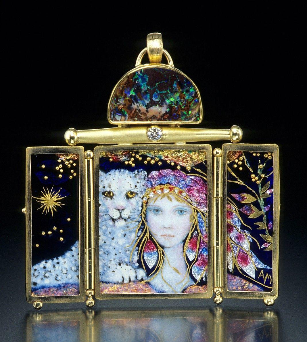 Mona & Alex Szabados -layered enamel jewelry, beautiful!!