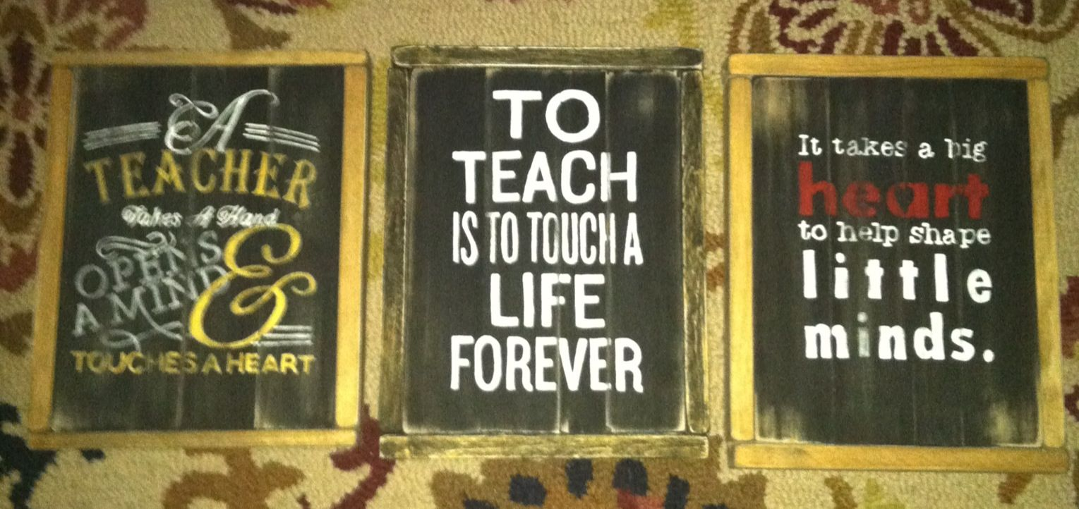 Signs I made for the kids' teachers this year meg.mcphee