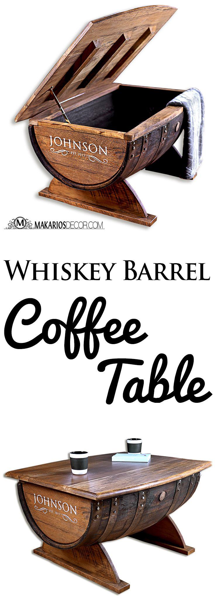 a52da94618ae8f3d137c9904231b3b29 Whiskey Barrel Coffee Table Wine Barrel Distressed Finish Coffee Table