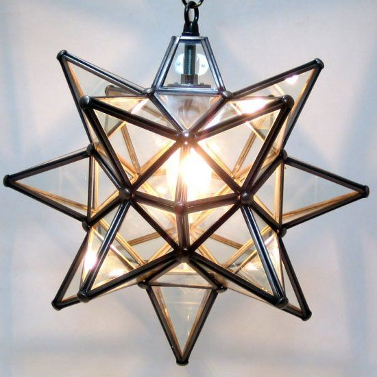 Moravian clear glass star light glass lights and pendant lighting aloadofball Image collections