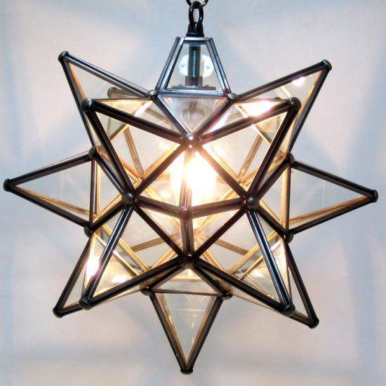 Moravian clear glass star light glass lights and pendant lighting aloadofball Choice Image