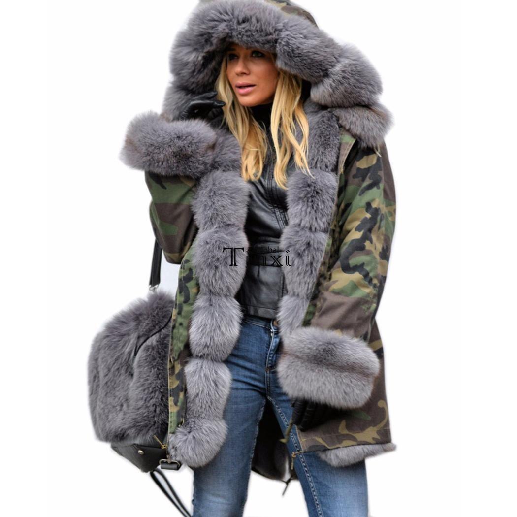 Fur lined parka ebay