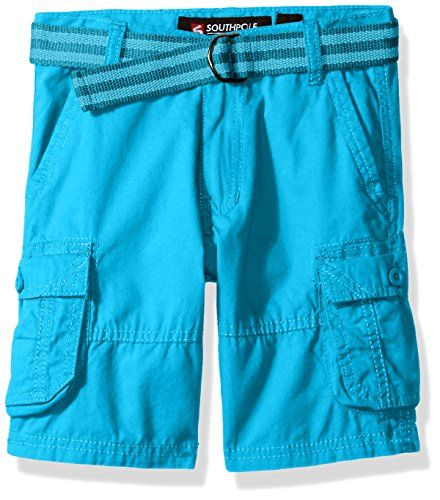 a569ba5cd0 Southpole Little Boys Belted Mini Canvas Cargo Shorts in Various Colors  Ocean Blue 7 *** You can get additional details at the image link.