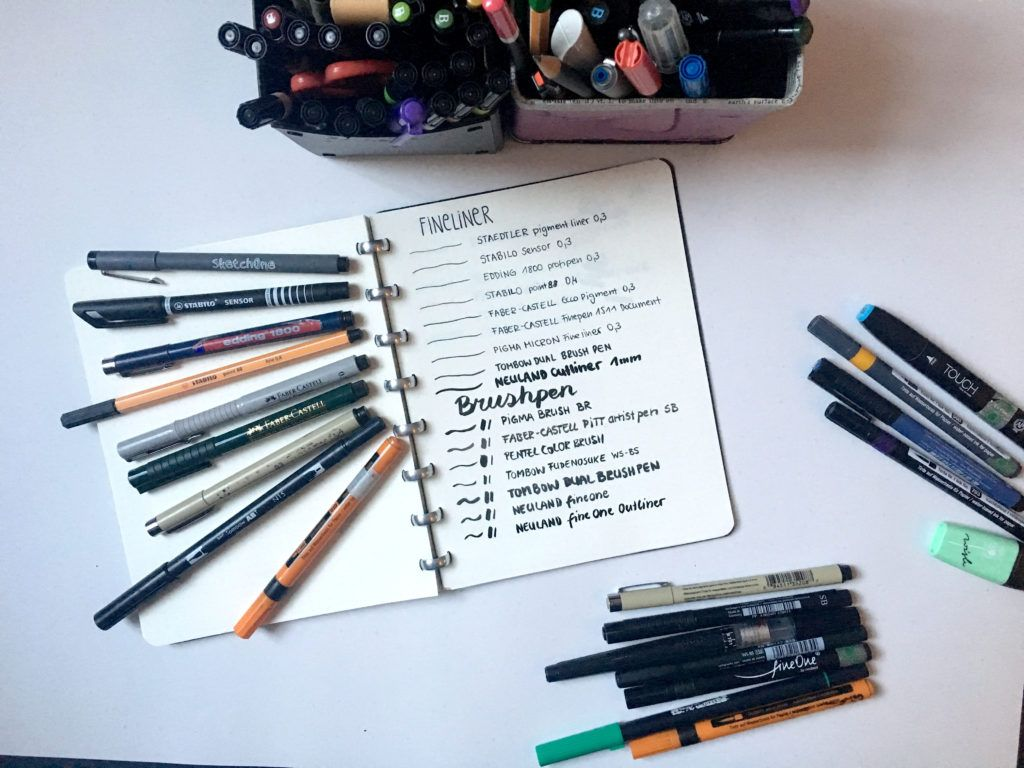welche stifte brauche ich für sketchnotes meine