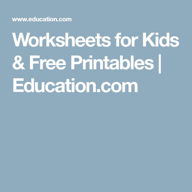 Worksheets for Kids & Free Printables   Education.com   Math for ...