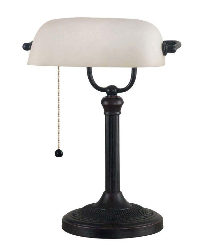 Kenroy Home 21394 Amherst 1 Light Banker's Desk Lamp Oil Rubbed Bronze Lamps Desk Lamps