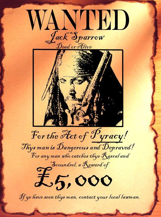 Pirate Wanted Posters Google Search Existencia De Deus