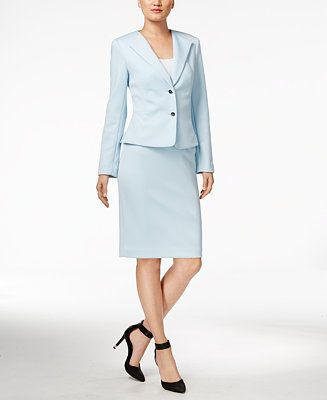 4f1fe721c29a Calvin Klein Two-Button Jacket   Pencil Skirt - Suits   Suit Separates -  Women - Macy s