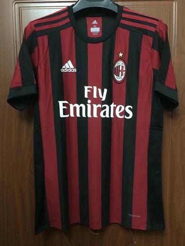 88005200d3b Top Thai quality 17 18 AC Milan Home red black soccer jersey 2017 2018  BACCA KAKA