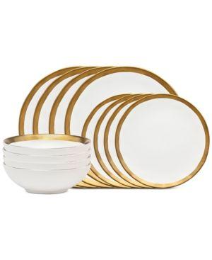Godinger Terre D\u0027Or 12-Piece Dinnerware Set Service for 4 - White  sc 1 st  Pinterest & Godinger Terre D\u0027Or 4-Pc. Mug Set - White/gold | Dinnerware and Products