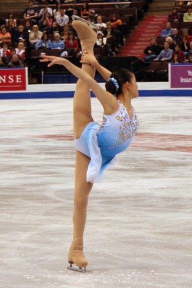 Caroline Zhang- Blue Figure Skating / Ice Skating dress inspiration for Sk8 Gr8 Designs.